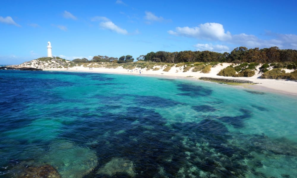 Rottnest Island blue waters and beach