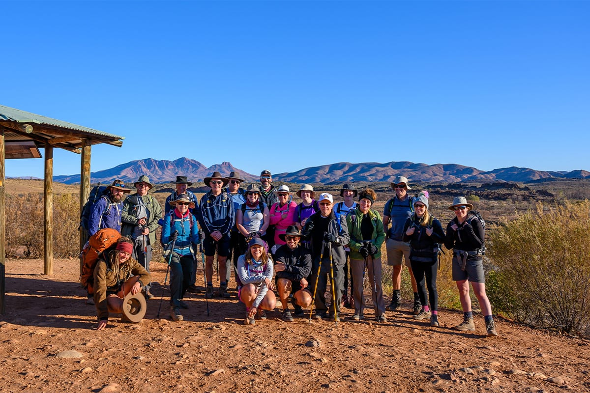 Inspired Team hiking in the Northern Territory