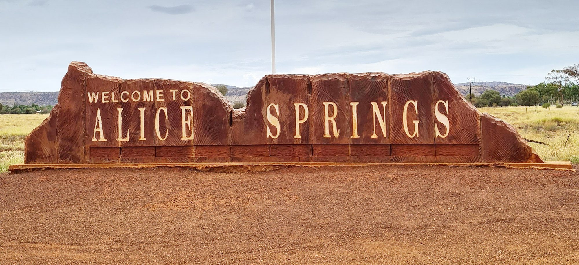 Sign: Welcome to Alice Springs
